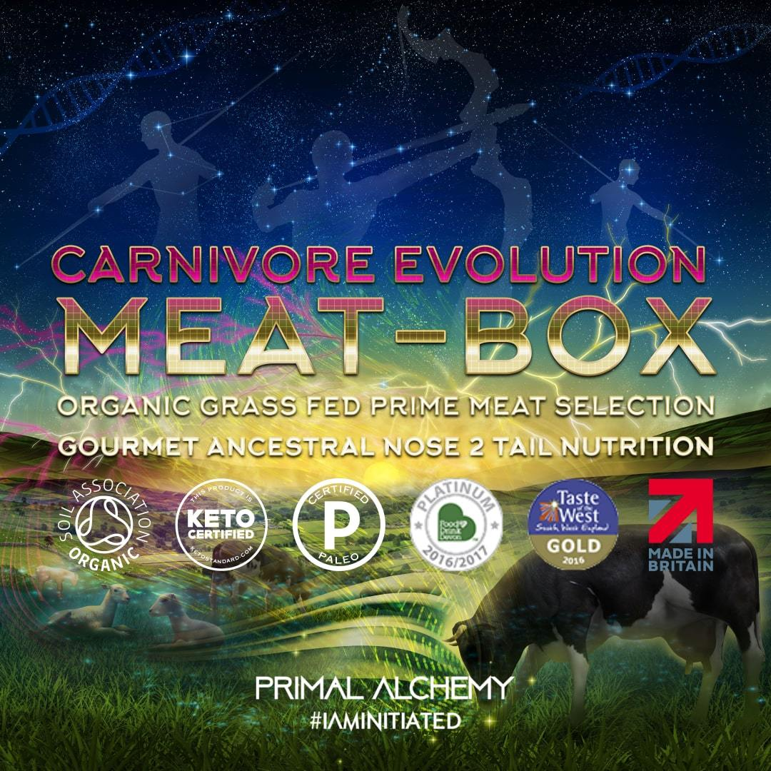 Carnivore Evolution Meat Box - Primal Alchemy - Certified Paleo, KETO Certified by the Paleo Foundation
