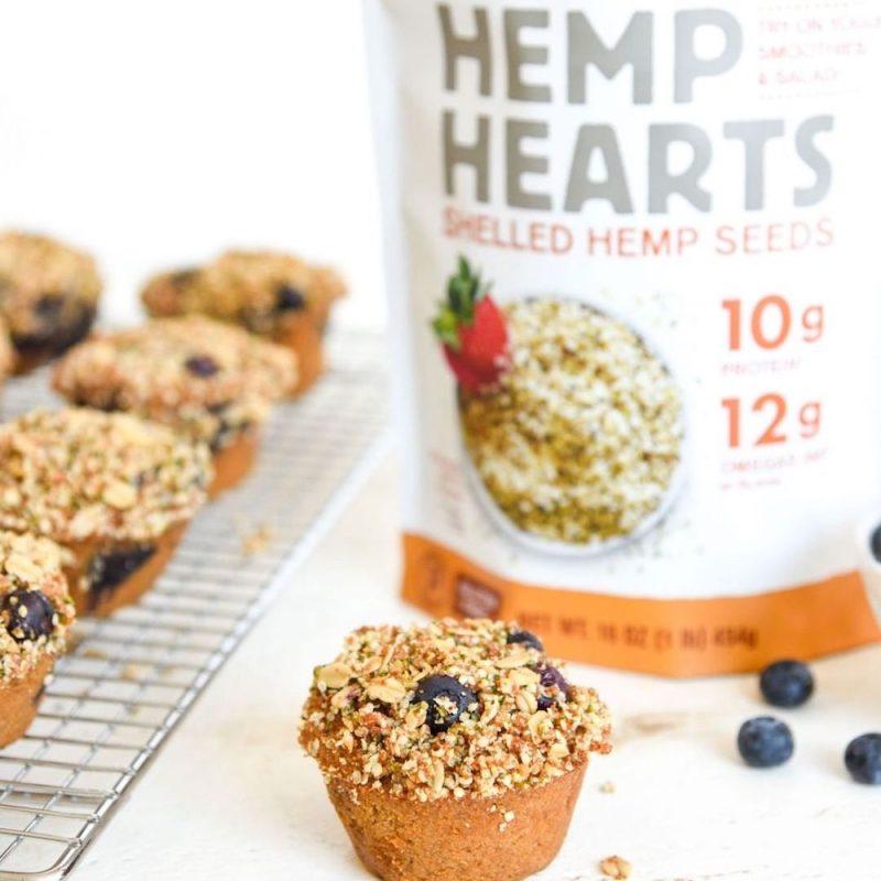 Hemp Hearts Muffins 1 - Manitoba Harvest Fresh Hemp Foods - Certified Paleo, Keto Certified by the Paleo Foundation