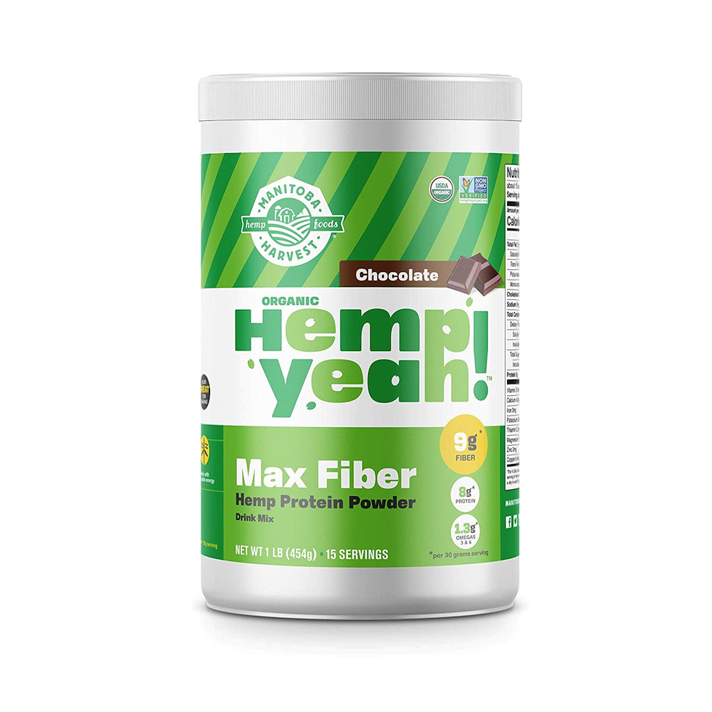Hemp Yeah! Max Fiber - Chocolate - Manitoba Harvest Fresh Hemp Foods - Certified Paleo, Keto Certified by the Paleo Foundation