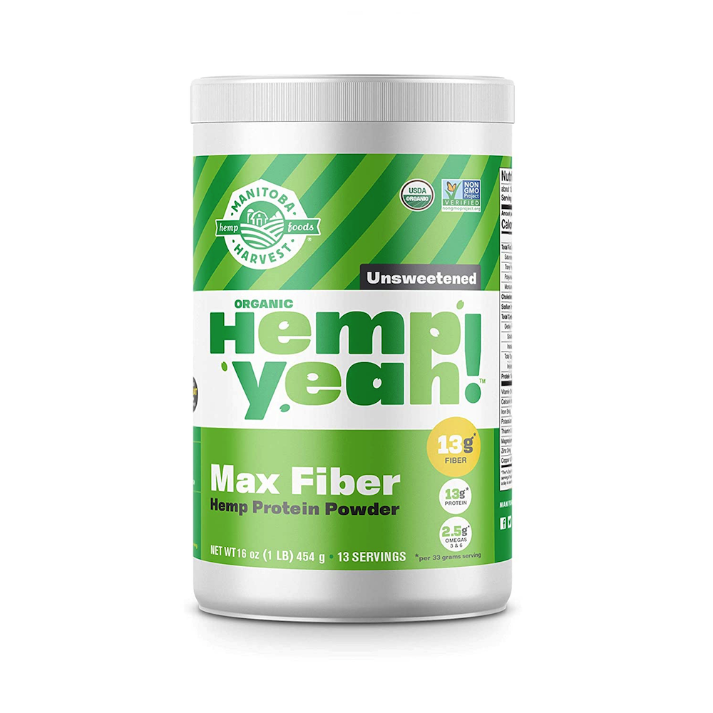 Hemp Yeah! Max Fiber - Unsweetened - Manitoba Harvest Fresh Hemp Foods - Certified Paleo, Keto Certified by the Paleo Foundation