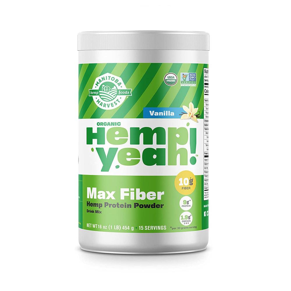 Hemp Yeah! Max Fiber - Vanilla - Manitoba Harvest Fresh Hemp Foods - Keto Certified by the Paleo Foundation