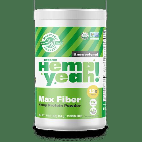 Hemp Yeah! Max Fibre Protein Powder - Unsweetened - Manitoba Harvest - Certified Paleo - Paleo Foundation
