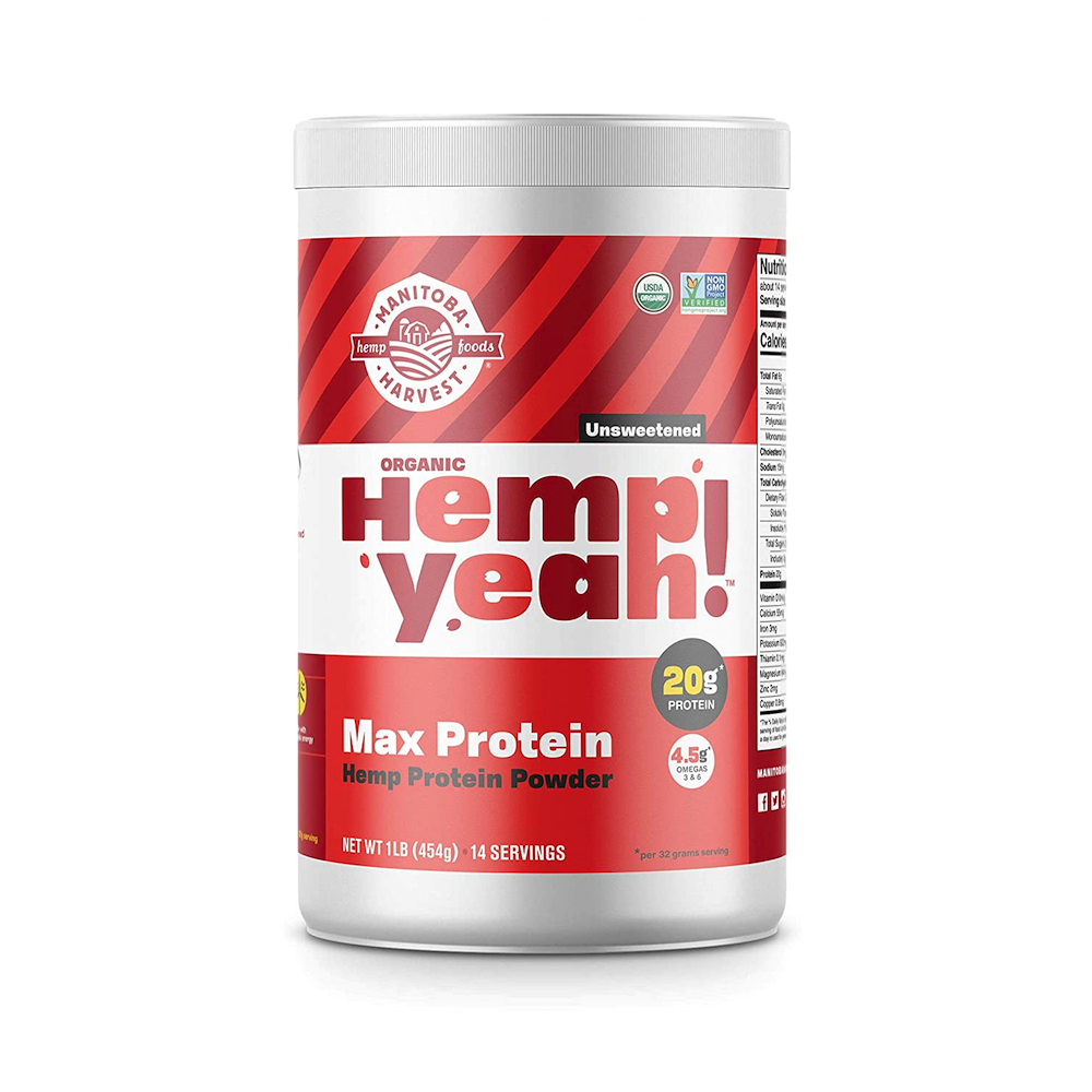 Hemp Yeah! Max Protein Hemp Protein Powder - Manitoba Harvest Fresh Hemp Foods - Certified Paleo, Keto Certified by the Paleo Foundation