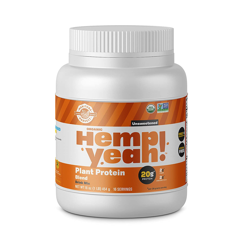 Hemp Yeah! Plant Protein Blend - Unsweetened - Manitoba Harvest Fresh Hemp Foods - Keto Certified by the Paleo Foundation