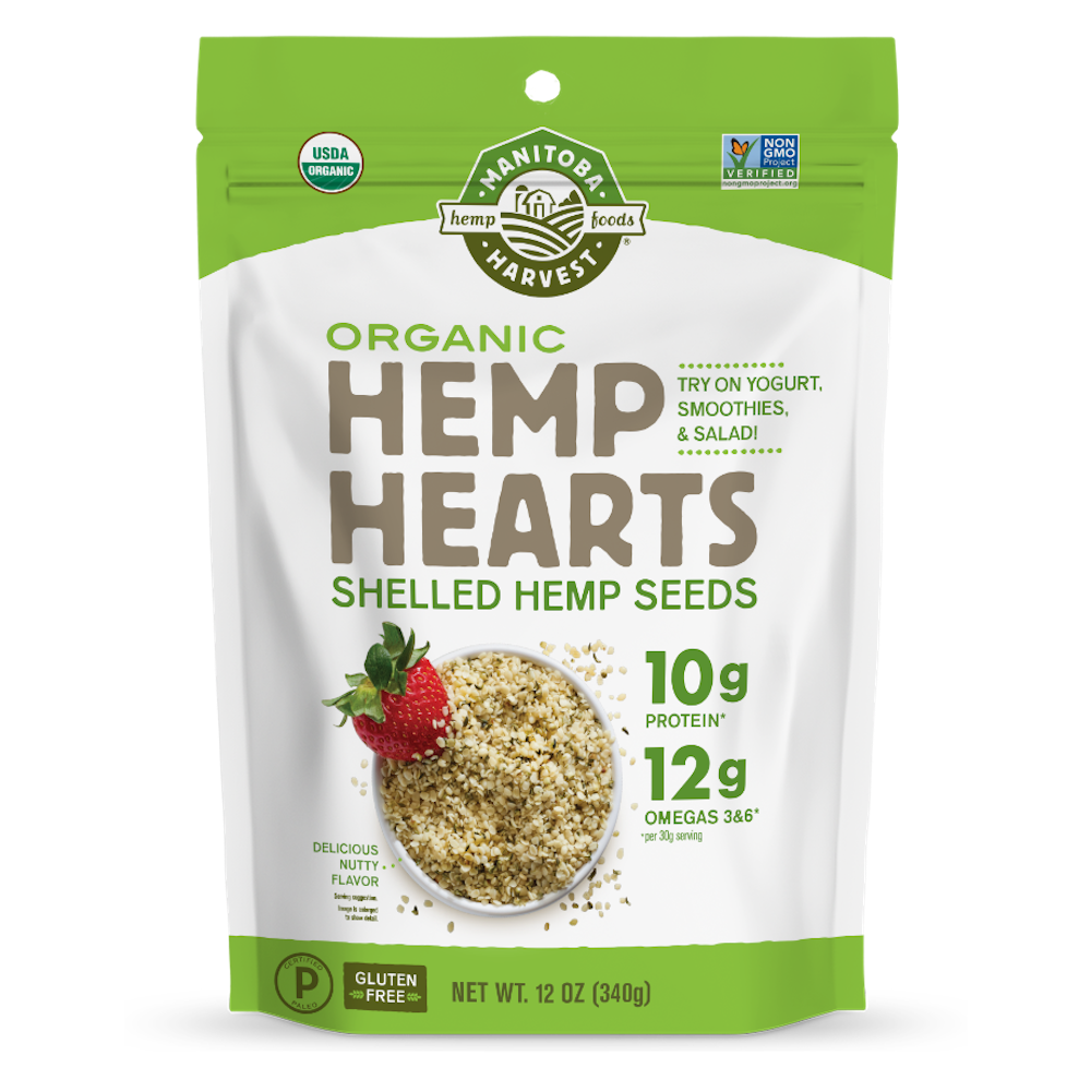 Organic Hemp Hearts - Manitoba Harvest Fresh Hemp Foods - Certified Paleo, Keto Certified by the Paleo Foundation