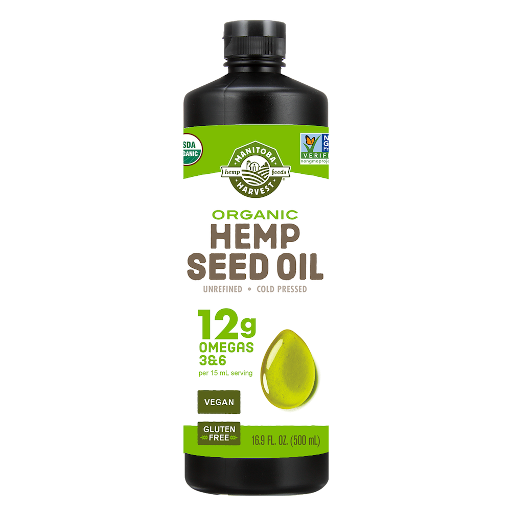 Organic Hemp Seed Oil - Manitoba Harvest Fresh Hemp Foods - Certified Paleo, Keto Certified by the Paleo Foundation