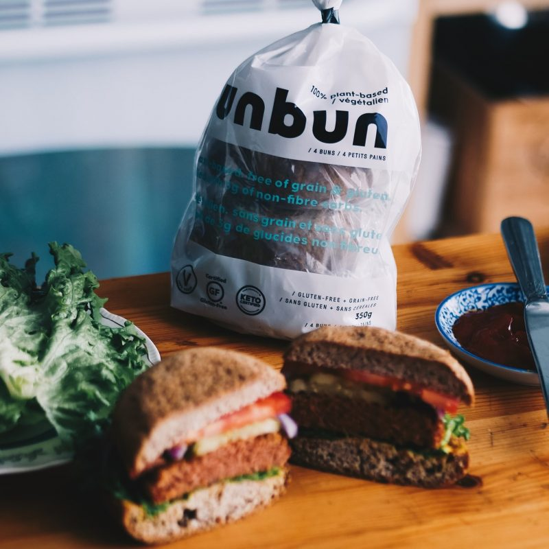 Vegan Unbun Burger 2 - Grain Free Gluten Free, Certified Paleo, PaleoVegan, & KETO Certified by the Paleo Foundation