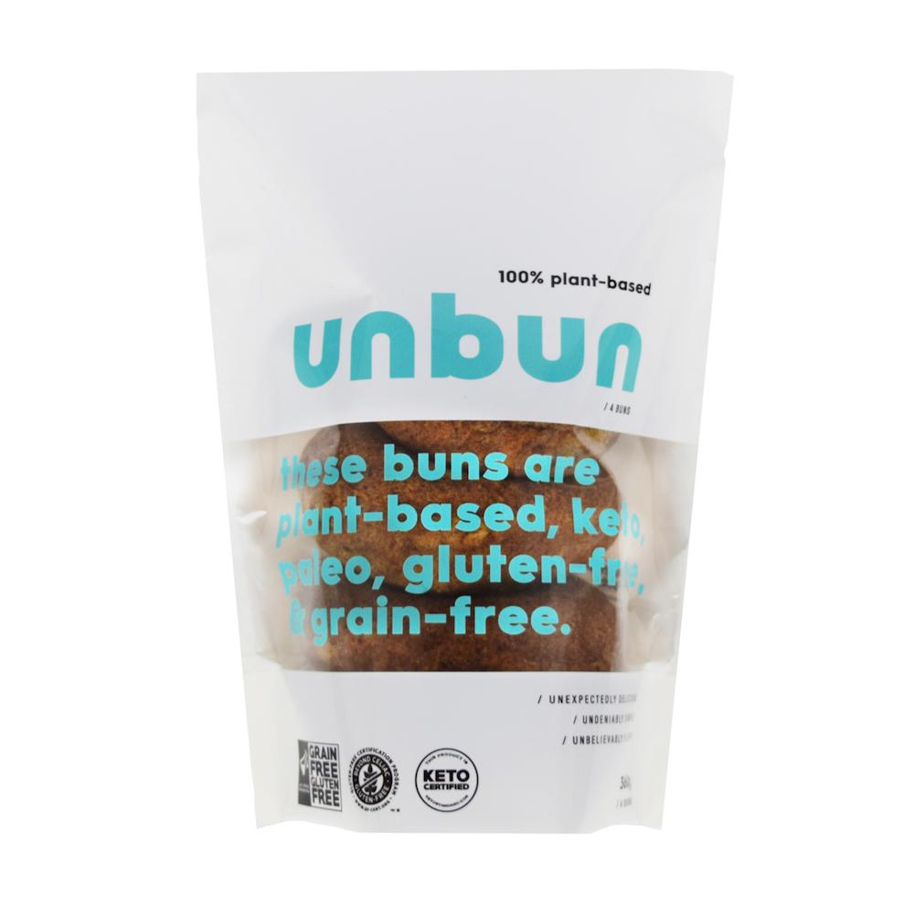 Vegan Unbun - Grain Free Gluten Free, Certified Paleo, PaleoVegan, & KETO Certified by the Paleo Foundation