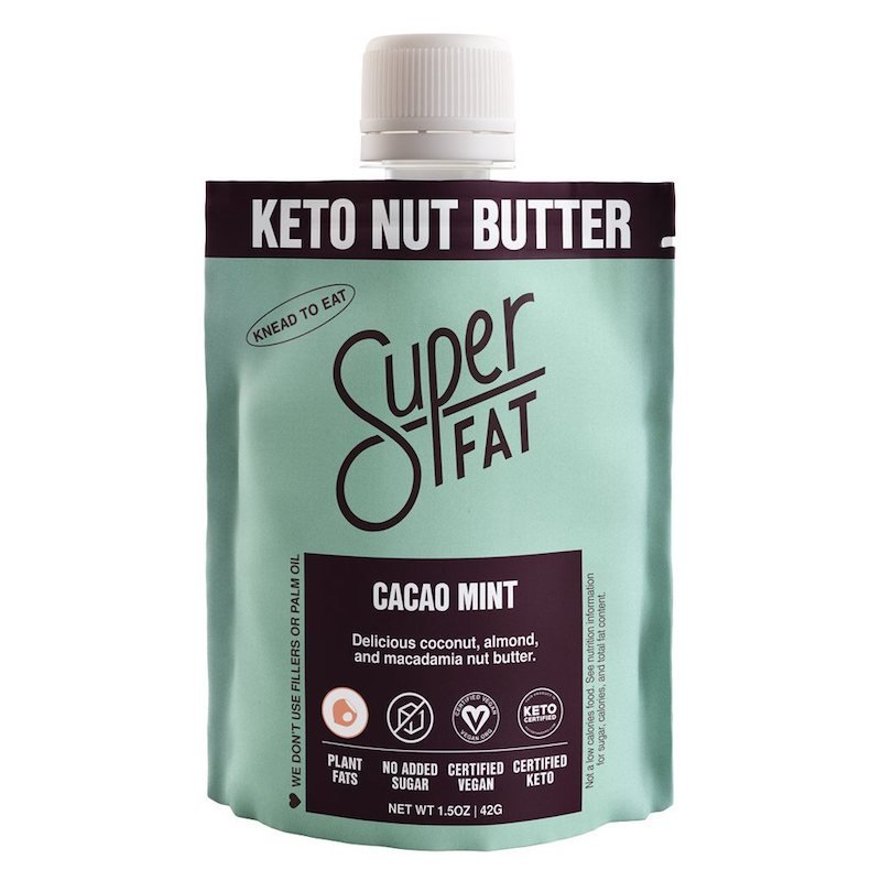 Cacao Mint Nut Butter - SuperFat - KETO Certified by the Paleo Foundation