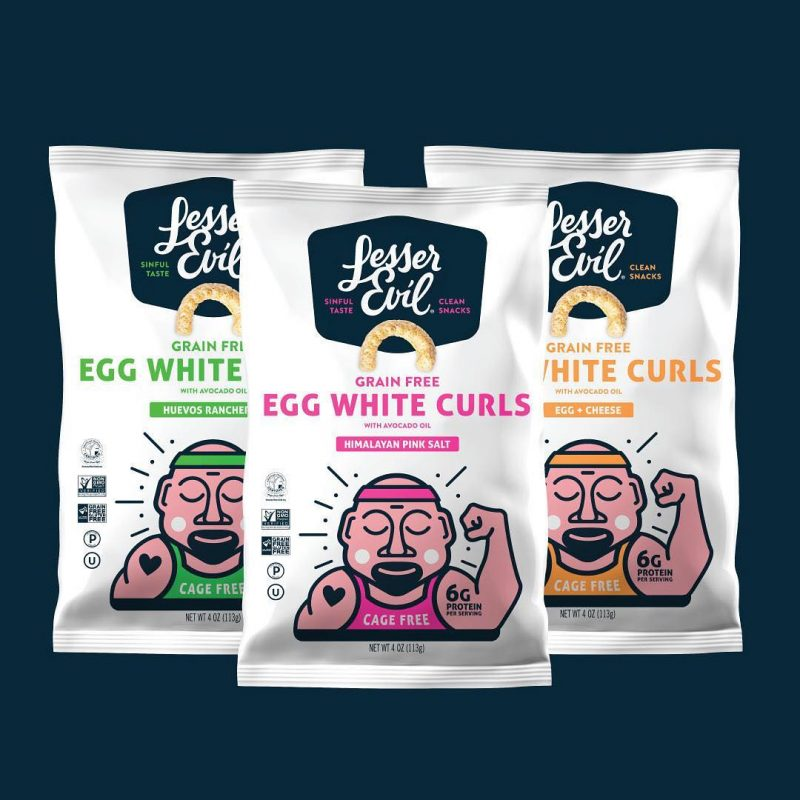 Egg White Curls spread 1 - LesserEvil Snacks - Certifed Paleo, Certified Grain Free Gluten Free by the Paleo Foundation