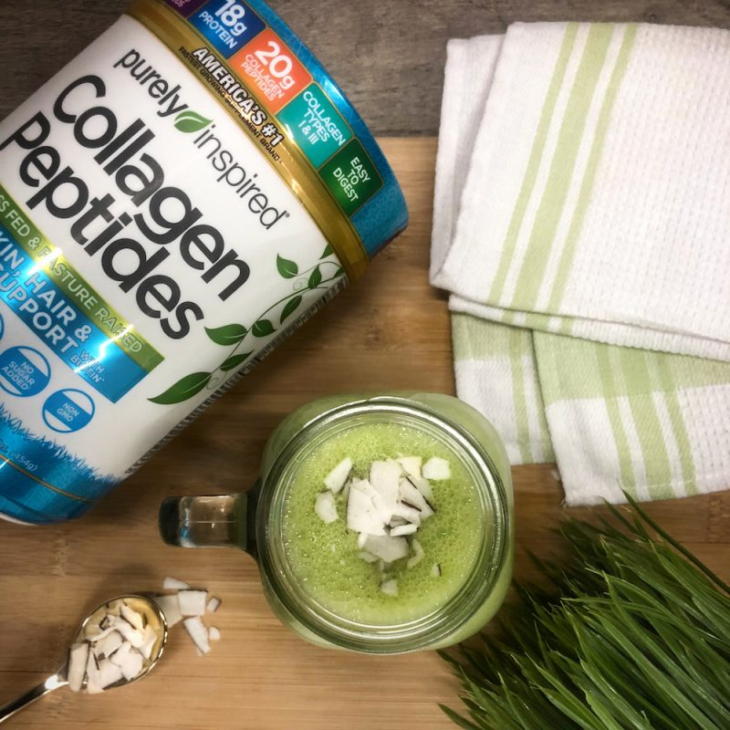 Green Smoothie - Purely Inspired Collagen Peptides - Iovate - Certified Paleo, KETO Certified - Paleo Foundation