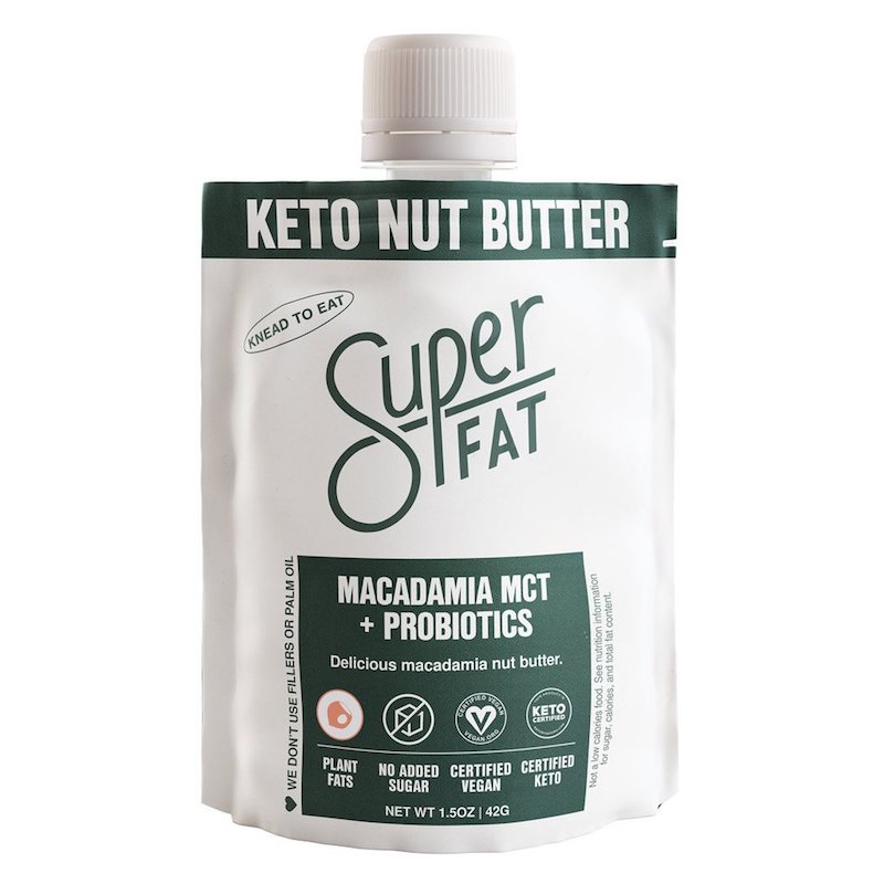 Macadamia MCT + Probiotics Nut Butter - SuperFat - Certified Paleo, KETO Certified by the Paleo Foundation