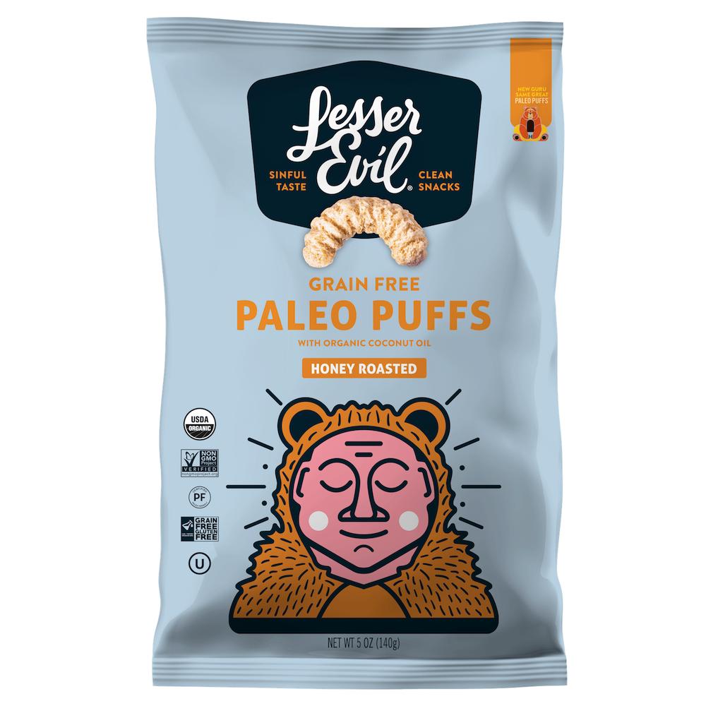 Paleo Puffs - Honey Roasted - Lesser Evil Snacks - Certifed Paleo Friendly, Certified Grain Free Gluten Free by the Paleo Foundation