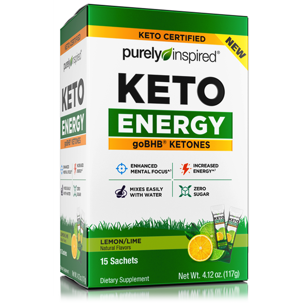 Purely Inspired Keto Energy - Iovate - Certified Paleo, KETO Certified by the Paleo Foundation