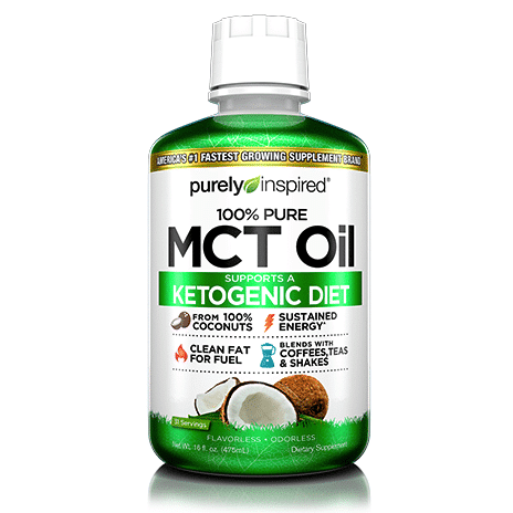Purely Inspired Organic MCT Oil - Iovate - Certified Paleo, KETO Certified - Paleo Foundation