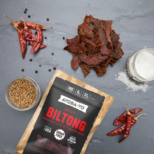 Spicy Biltong - Ayoba-Yo - Certified Paleo, Keto Certified - Paleo Foundation