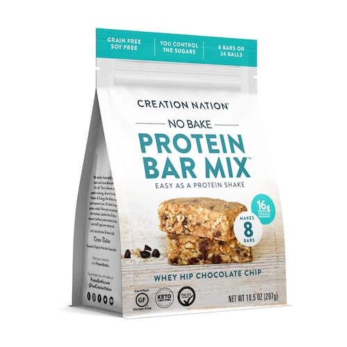 Whey Hip Chocolate Chip Protein Bar Mix - Creation Nation - Paleo Friendly, KETO Certified - Paleo Foundation