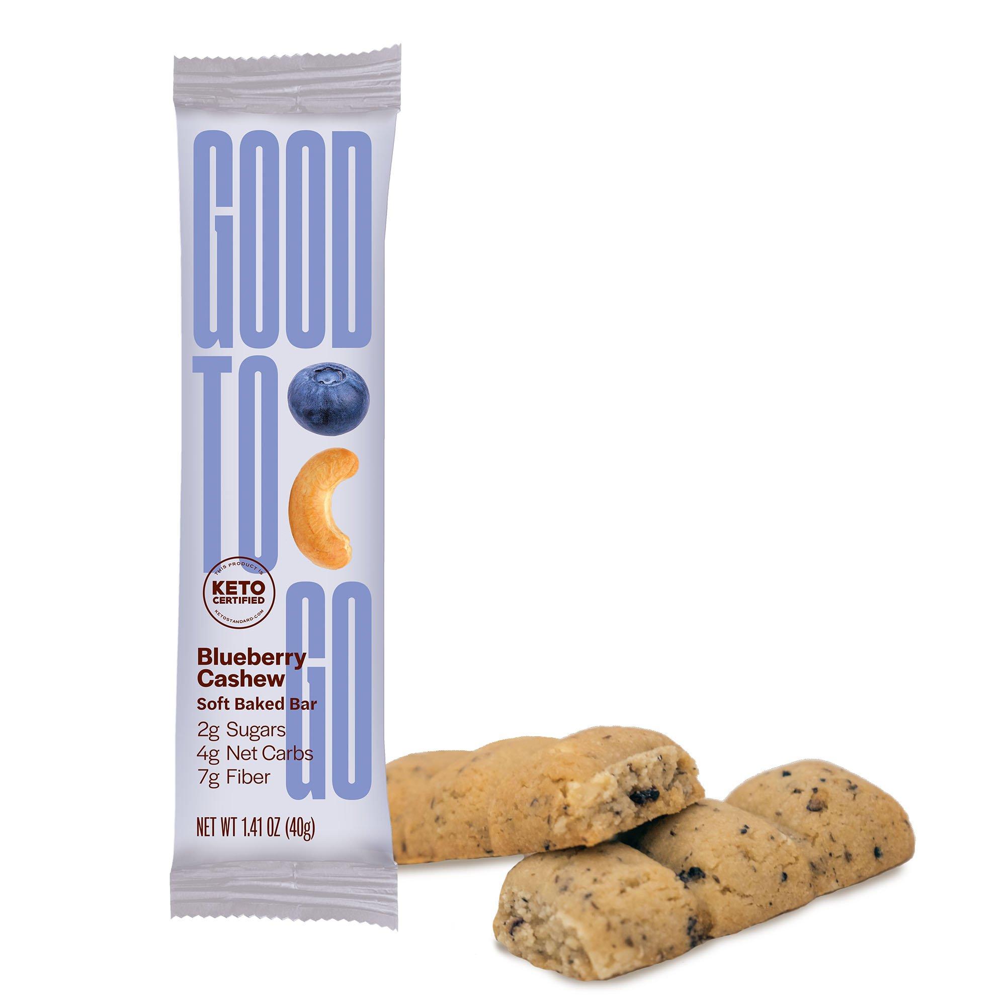 Blueberry Cashew Snack Bar - GoodTo Go Snacks - KETO Certified by the Paleo Foundation