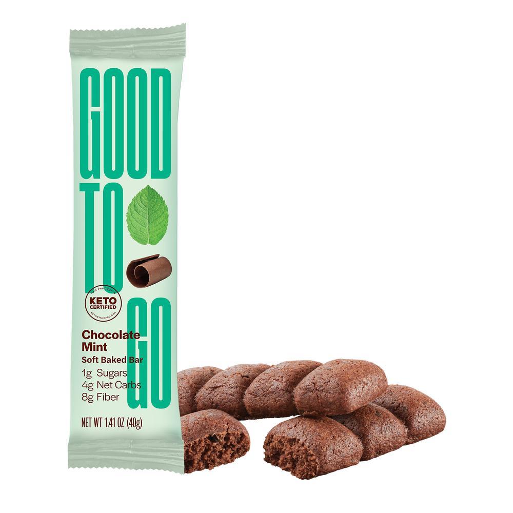 Chocolate Mint Snack Bar - GoodTo Go Snacks - KETO Certified by the Paleo Foundation