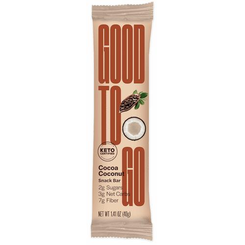 Cocoa Coconut Cookie Bar - GoodTo Go - KETO Certified - Paleo Foundation - - Keto Certified - Keto Diet Certified - Keto Diet Approved