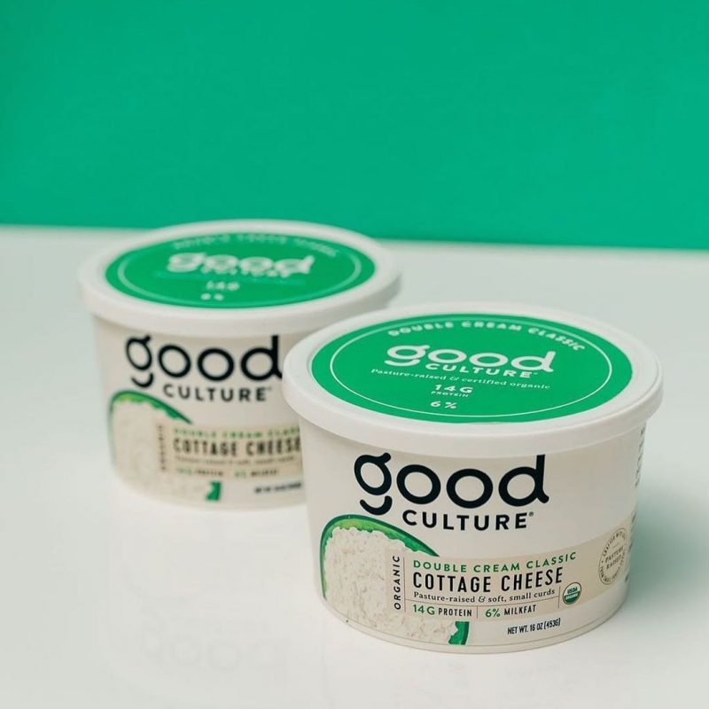 Organic Double Cream Classic Cottage Cheese 2 - Good Culture - Keto Certified by the Paleo Foundation