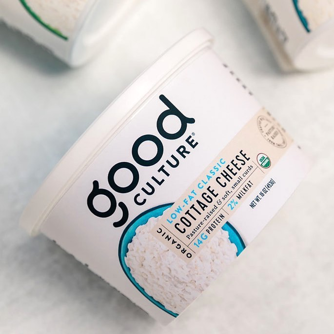 Organic Low-Fat Milk Classic Cottage Cheese 1 - Good Culture - Keto Certified by the Paleo Foundation
