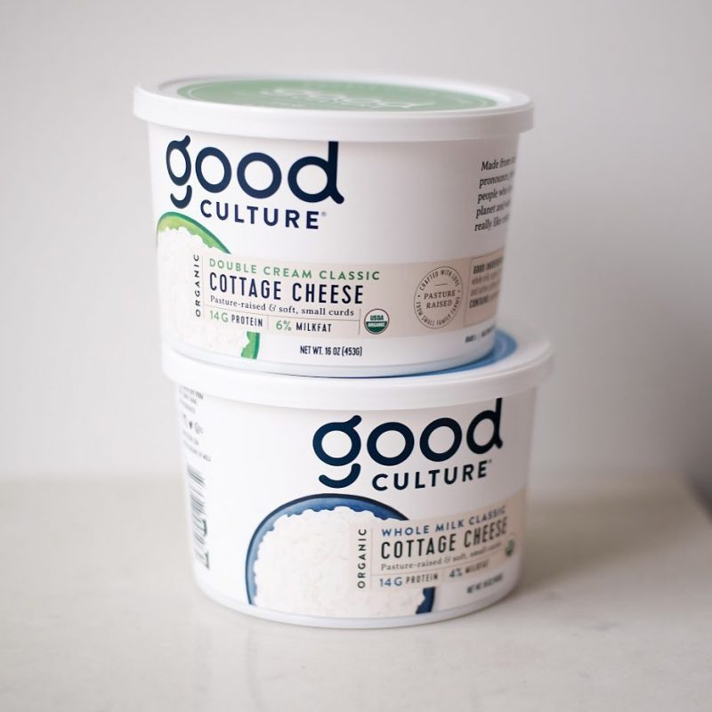 Organic Whole Milk Classic & Double Cream Classic Cottage Cheese 1 - Good Culture - Keto Certified by the Paleo Foundation