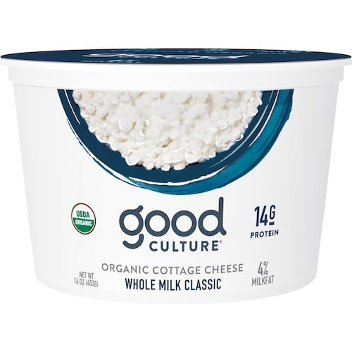 Organic Whole Milk Cottage Cheese - Good Culture - Keto Certified - Paleo Foundation