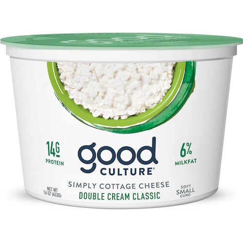 Simply Cottage Cheese Double Cream Classic - Good Culture - Keto Certified - Paleo Foundation