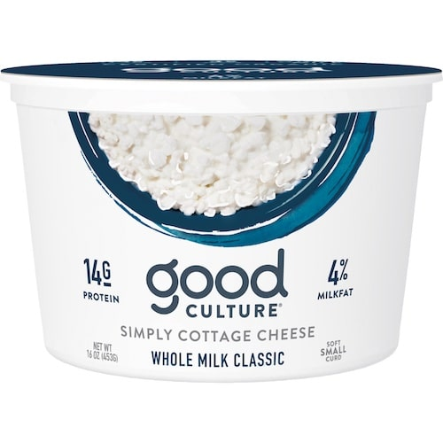 Simply Cottage Cheese Whole Milk Classic - Good Culture - Keto Certified - Paleo Foundation