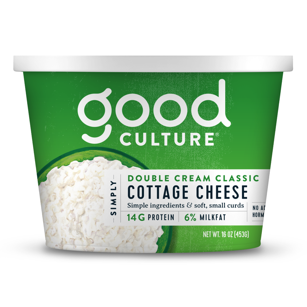 Simply Double Cream Classic Cottage Cheese - Good Culture - Keto Certified by the Paleo Foundation