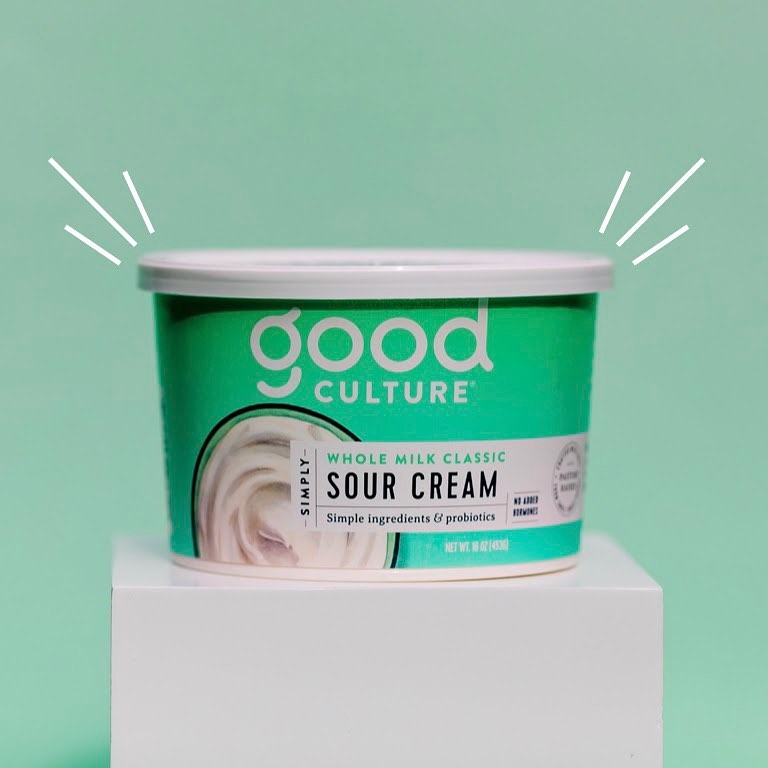 Simply Whole Milk Classic Sour Cream 1 - Good Culture - Keto Certified by the Paleo Foundation