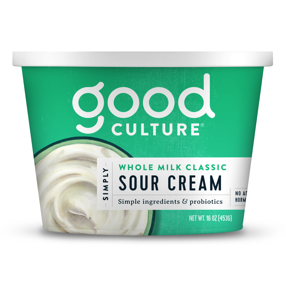 Simply Whole Milk Classic Sour Cream - Good Culture - Keto Certified by the Paleo Foundation