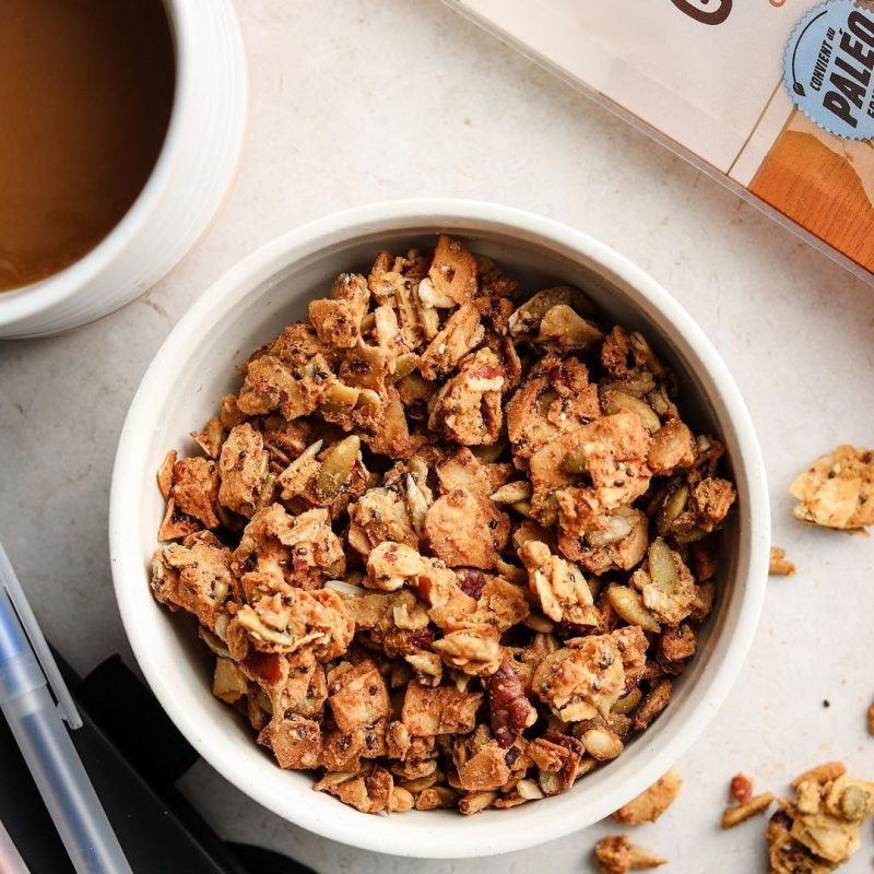 Caramel Pecan Grain Free Granola 1 - Nature's Path Foods - Certified Paleo Friendly, KETO Certified by the Paleo Foundation