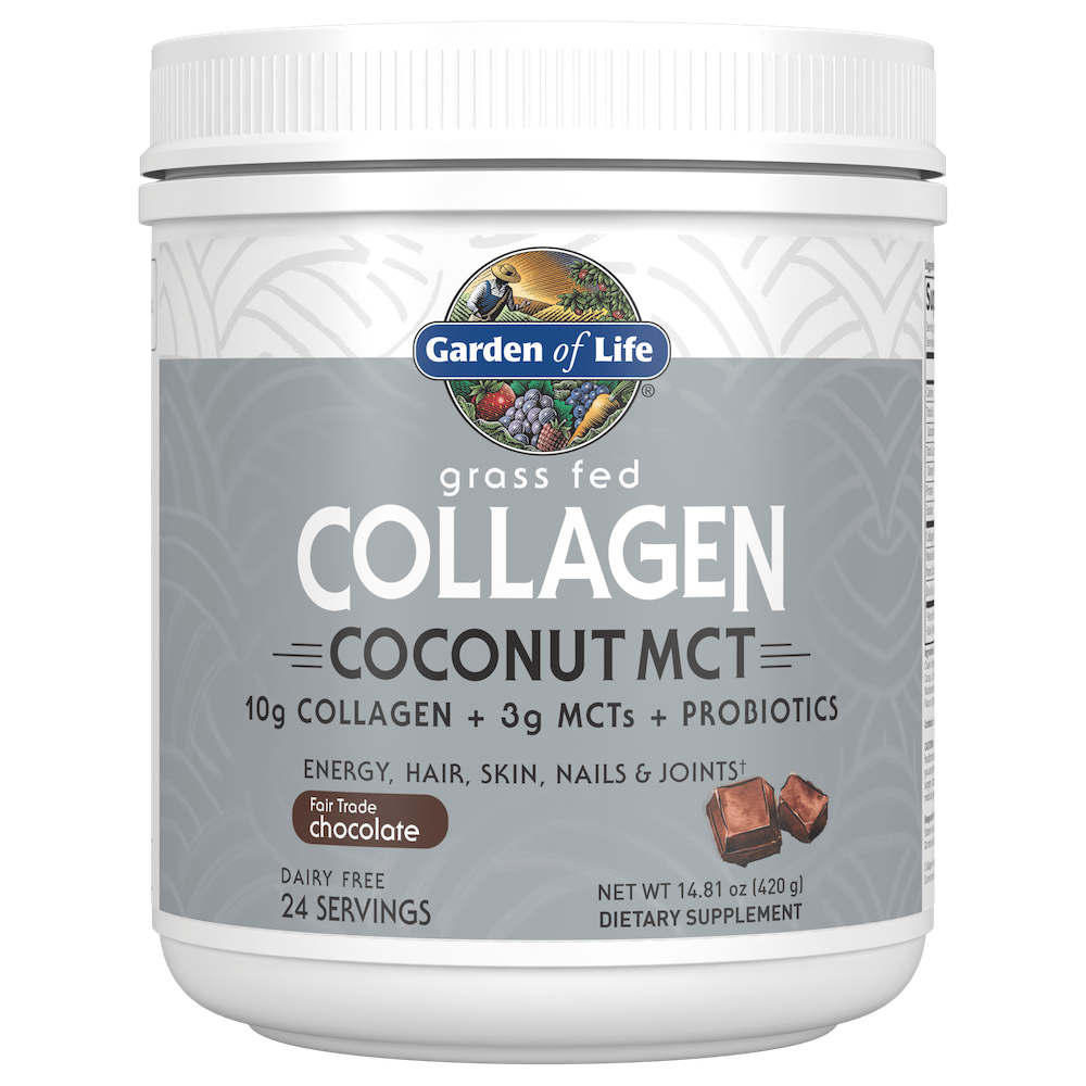 Collagen Coconut MCT Chocolate - Garden of Life - Certified Paleo, Keto Certified by the Paleo Foundation
