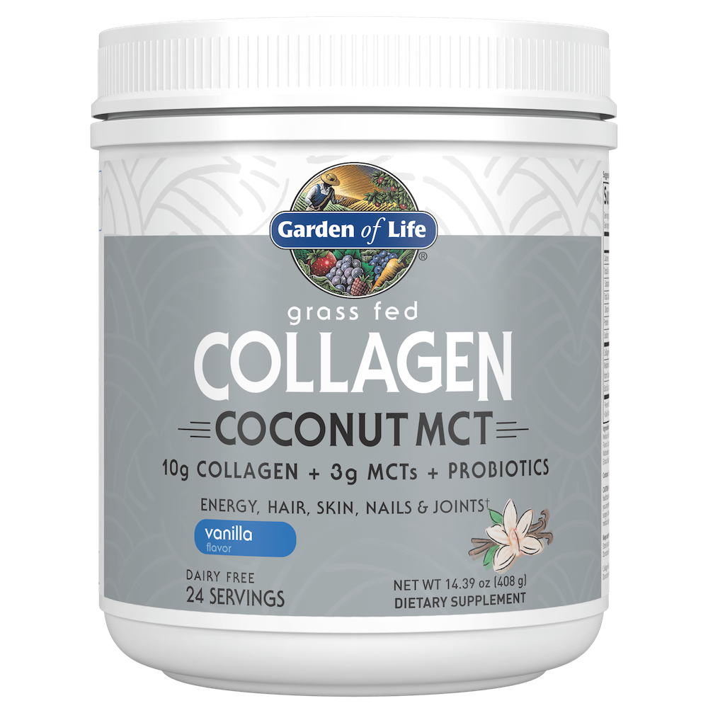 Collagen Coconut MCT Vanilla - Garden of Life - Certified Paleo, Keto Certified by the Paleo Foundation