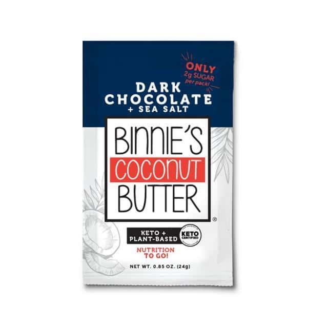 Dark Chocolate & Sea Salt Binnie's Keto Cakes - Binnie's Coconut Butter - Keto Certified - Keto Diet Certified - Paleo Foundation