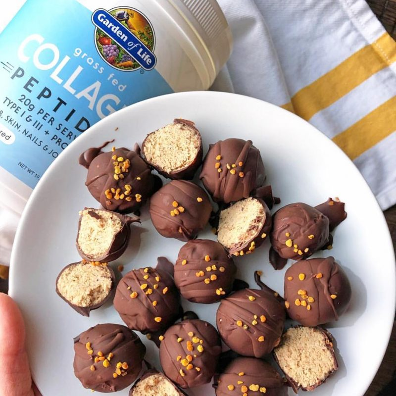 Grass Fed Collagen Peptides Chocolate Covered Collagen bites - Garden of Life - Certified Paleo, KETO Certified - Paleo Foundation