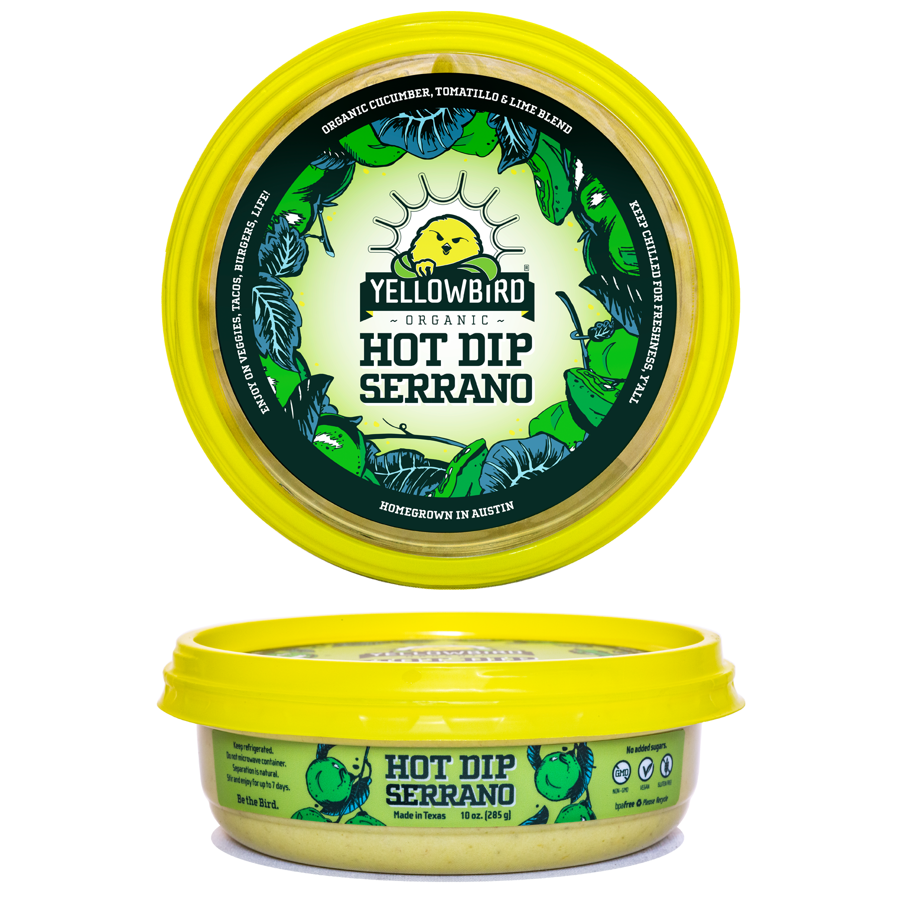 Hot Dip Serrano - Yellowbird Foods - Certified Paleo, Keto Certified by the Paleo Foundation
