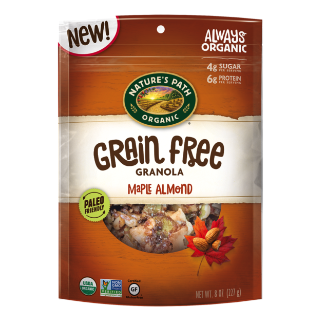 Maple Almond Grain Free Granola - Nature's Path Foods - Paleo Friendly, KETO Certified - Paleo Foundation