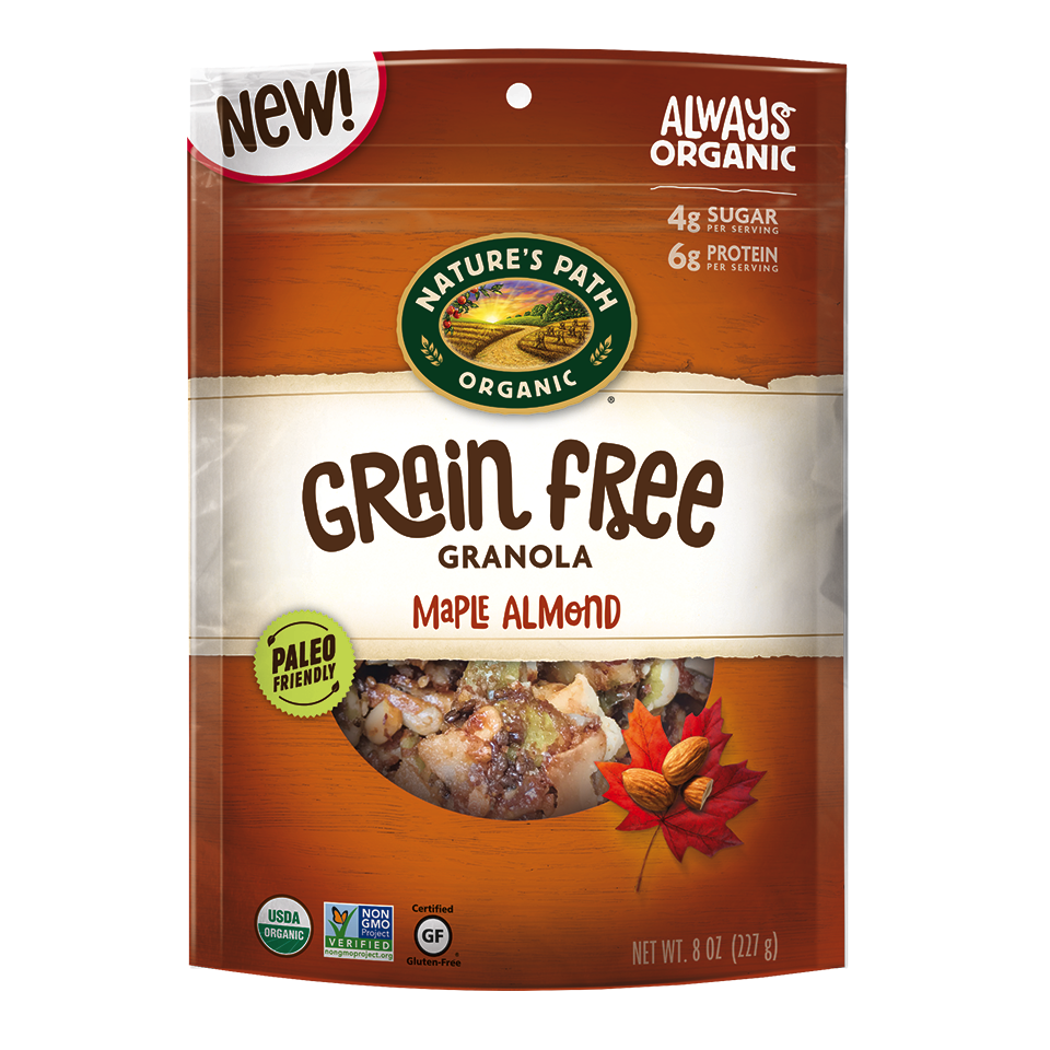 Maple Almond Grain Free Granola - Nature's Path Foods - Paleo Friendly, KETO Certified by the Paleo Foundation