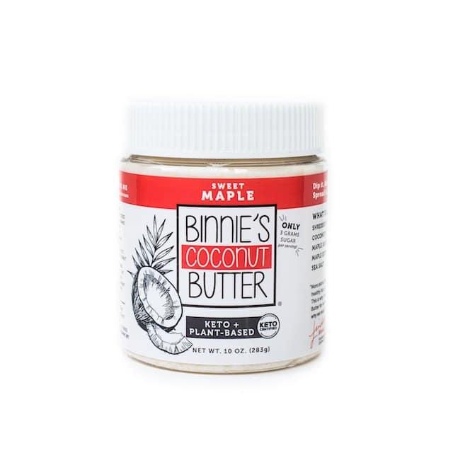 Sweet Maple - Binnie's Coconut Butter - Keto Certified - Keto Diet Certified - Paleo Foundation