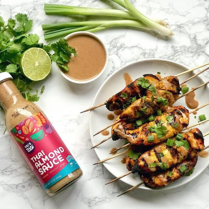 Thai Chicken Satay with Almond Sauce - Yai's Thai - Certified Paleo - Paleo Foundation