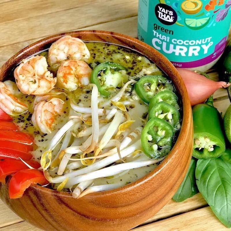 Thai Green Coconut Curry Shrimp Soup - Yai's Thai - Certified Paleo - Paleo Foundation