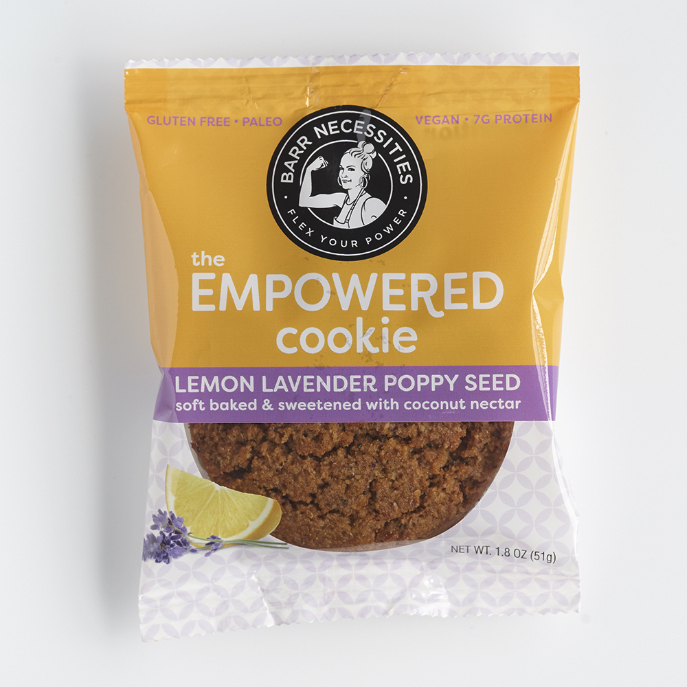 The Empowered Cookie - Lemon Lavender Poppy Seed - Barr Necessities - Certified Paleo by the Paleo Foundation