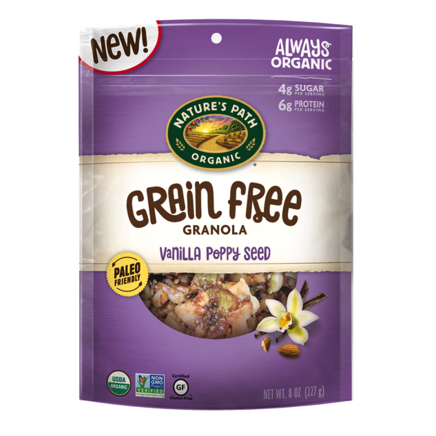 Vanilla Poppy Seed Grain Free Granola - Nature's Path Foods - Paleo Friendly, KETO Certified - Paleo Foundation