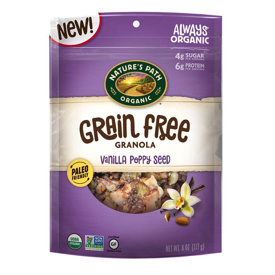 Vanilla Poppy Seed Grain Free Granola - Nature's Path Foods - Paleo Friendly, KETO Certified by the Paleo Foundation