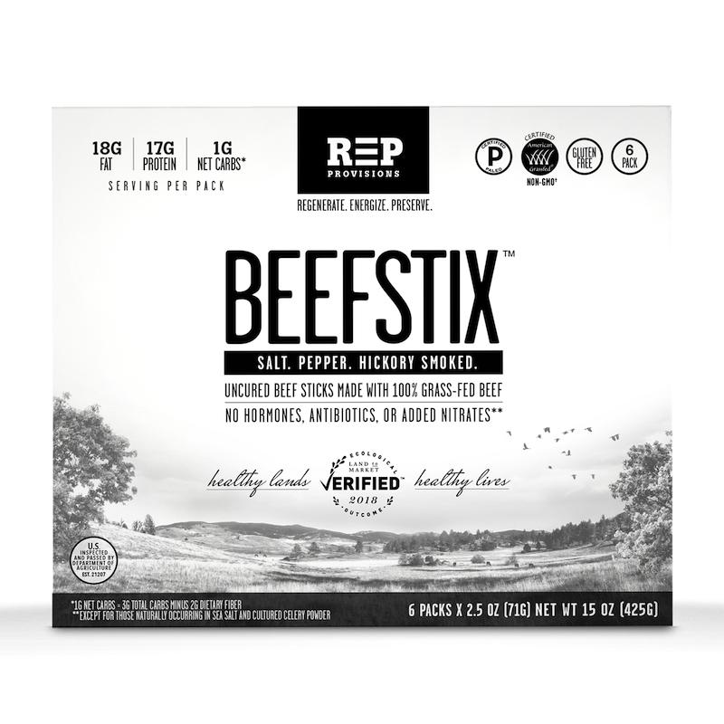 Beefstix - REP Provisions - Certified Paleo, KETO Certified - Paleo Foundation