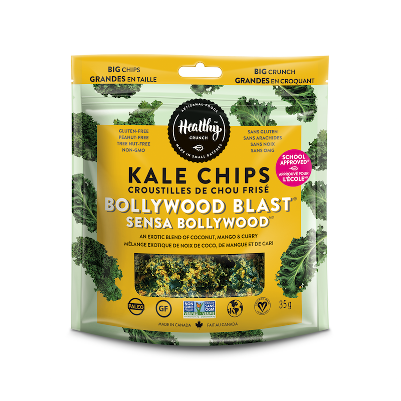 Bollywood Blast Kale Chips - The Healthy Crunch Company - Certified Paleo - Paleo Foundation