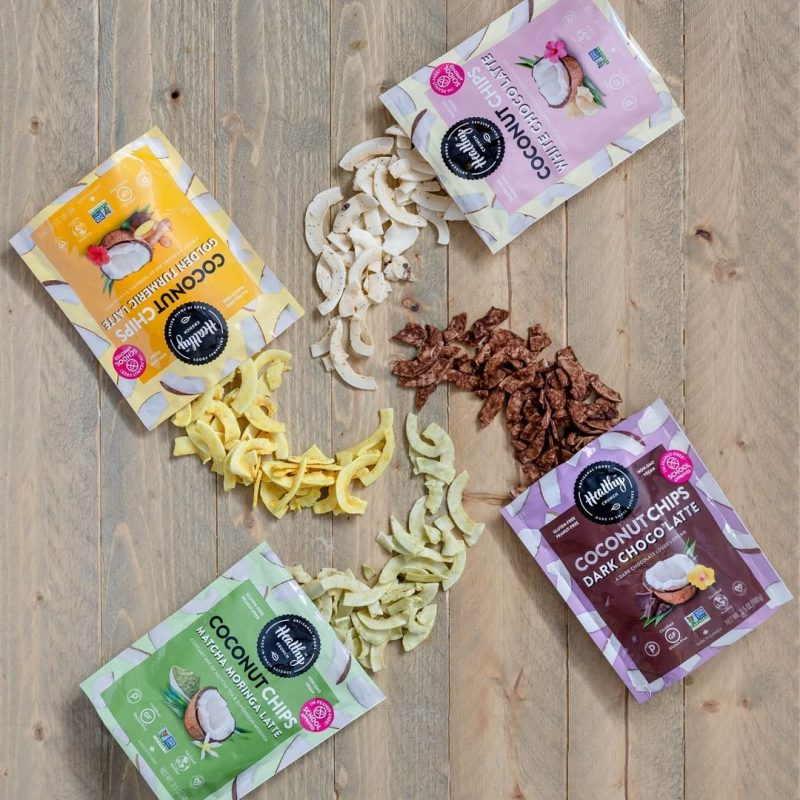 Coconut Chips Lineup - The Health Crunch Company - Certified Paleo - Paleo Foundation - paleo diet
